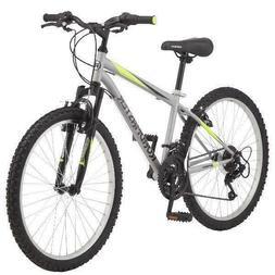 "Mountain Bike Boy's 24"" Roadmaster Granite Peak Silver Outdo"