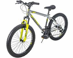 Huffy Mountain Bike Boys 24 inch 21-Speed Silver Wrath NEW