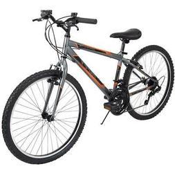 Huffy Mountain Bike Boys 24 Inch Orange 18 Speed Granite NEW