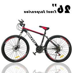 Mountain Bike Front Suspension 21 Speed Men Women Bikes MTB
