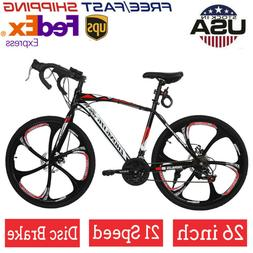 Mountain Bike Front Suspension Shimano 21 Speed Mens Bikes M