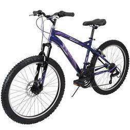 Huffy Mountain Bike Girls 24 Inch Purple 18 Speed Extent NEW