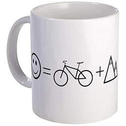 Mountain Bike Happiness Mug - Ceramic 11oz Coffee/Tea Cup Gi