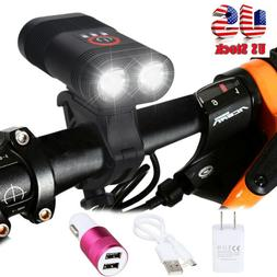 Mountain Bike Lights for Night Riding USB Rechargeable Bicyc