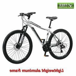 "Schwinn Mountain Bike Men 27.5"" Silver Shimano Aluminum Fram"