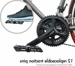 Mountain Bike Pedal Carbon fiber Non-Slip 9/16 Inch Bicycle