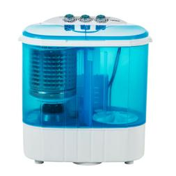 10 LBS Portable Mini Washing Machine Compact Twin Tub Washer