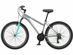 "Schwinn Mountain Bike Silver Women 26"" Aluminum Shimano Susp"
