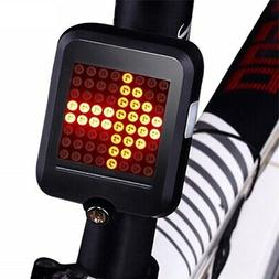 Mountain Bike Tail Light Auto Direction Indicator LED Warnin
