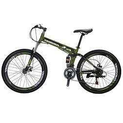 EUROBIKE Mountain Bike TSMG4 21 Speed 26 Inches Wheels Dual