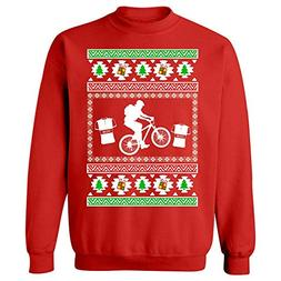 BadAss Attire Mountain Bike Ugly Christmas Sweater Look Gift