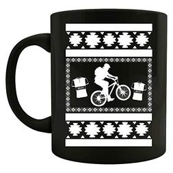 Mountain Bike ugly christmas sweater look gift for biker - M