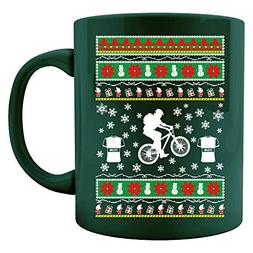 Mountain Bike ugly christmas sweater look gift for biker - C
