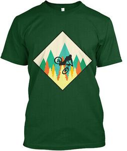 Mountain Bikers Mtb Mountains Forests Premium Tee T-Shirt