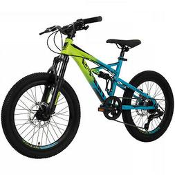 Mountain Bikes For Kids Huffy 20 Inch Oxide Lime Blue Dual D
