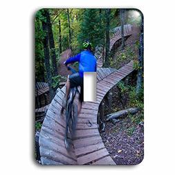 3dRose Mountain biking on the Over the Edge Trail, Michigan,