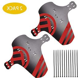 HCFGS MTB Mudguard, 2 Packs Mountain Bike Fenders Quick Rele