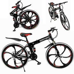 Outroad Mountain Bike 21 Speed 26 in Folding Bike Double Dis