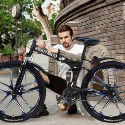 Outroad Mountain Bike 21 Speed 26in Folding Bike Double Disc