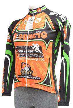Panache Long Sleeve Thermal Jersey Men SMALL Big Orange Road