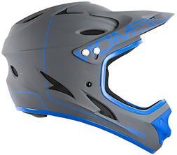 Demon United Podium Full Face Helmet Grey/Blue Sm