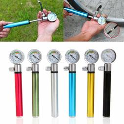 Portable Aluminum Hand Mini With Pressure Gauge Pump Mountai