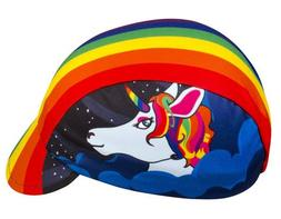 Rainbow Unicorn, One of a Kind Cycling Cap - Made in The USA