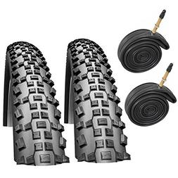 "Schwalbe Rapid Rob 26"" x 2.10 Mountain Bike Tyres with Prest"