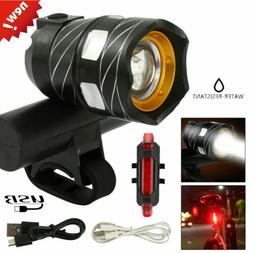 Rechargeable LED Mountain Bike Lights 15000LM Bicycle Torch