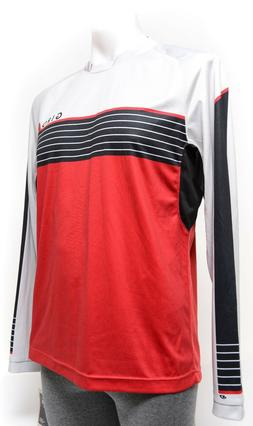 Giro Roust Long Sleeve Mountain Bike Jersey Men MEDIUM Red 6