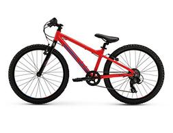 "RALEIGH Bikes Kids Rowdy 24 Mountain Bike, 24""/One Size, Red"