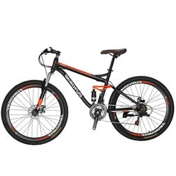 "S7 27.5"" Full Suspension Mountain Bike Shimano 21 Speed Disc"