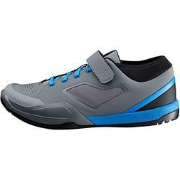 SHIMANO SH-AM7 Mountain Bike Shoes - Men's Grey/Blue; 44