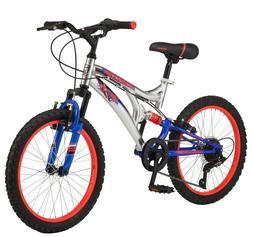 "Mongoose Skatter Ball Boys 20"" Mountain Bike-Gray"