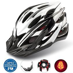 Basecamp Specialized Bike Helmet with Safety Light,Adjustabl