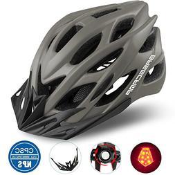 Basecamp Specialized Bike Helmet with Safety Light,Adjustabl