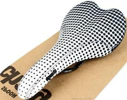 Charge Bikes Spoon Dot Fade Bike Saddle Black/White CrMo Rai