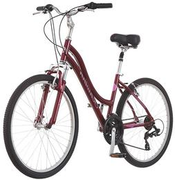 "Schwinn Women's Suburban Deluxe 26"" Comfort Hybrid Bike - Re"