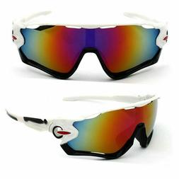 Sunglasses Mountain Bike Cycling Helmet Sun Glasses White Bl