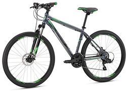 "Mongoose Men's Switchback Sport 27.5"" Wheel, Silver, 16 inch"