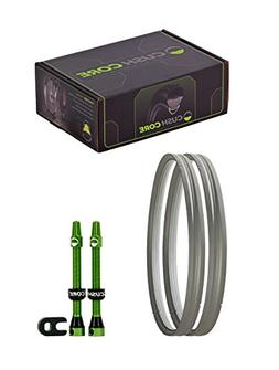 """CushCore Tire Inserts , with Tubeless Air Valves, 29"""""""