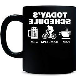 Todays Schedule Cycling Mountain Biking - Mug