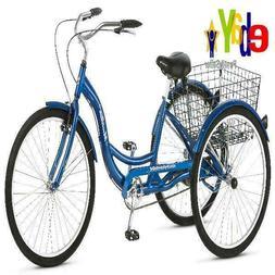 """Schwinn Tricycle Adult Trike 26"""" Meridian Cruiser 3-Wheel Bi"""