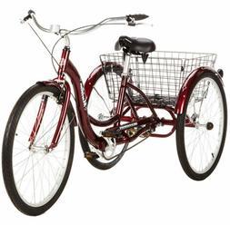 Adult Tricycle Trike Women Men 1 Speed 3 Three Wheel Bike Sc