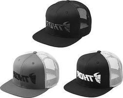 Thor Trucker Snapback Hat - Mens Guys Lid Cap Flat Bill MX M