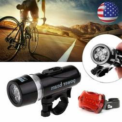 USB Rechargeable LED Bike Lights Set Headlight Taillight Cau