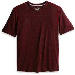 Champion Vapor Men's Heather V-Neck Tee Carmine Red Heather/