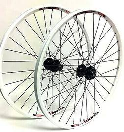 "Speed Tuned White, 26"" mountain bike wheel set, Formula 6-Bo"