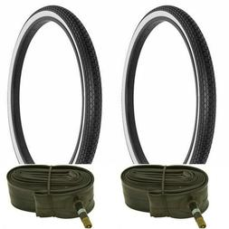"""WHITE WALL  SMALL BRICK 26 X 2 X 1 3/4"""" S7 BIKE TIRES FOR SC"""