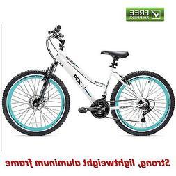Women Mountain Bike 21 Speed Shimano Disc Brake Suspension 2
